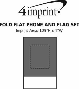 Imprint Area of Fold Flat Phone and Flag Set