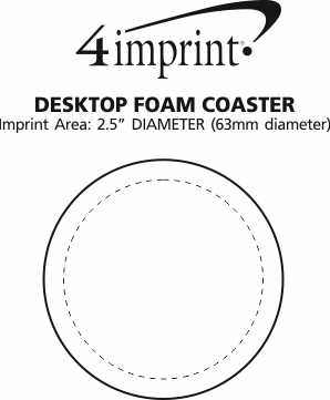 Imprint Area of Desktop Foam Coaster