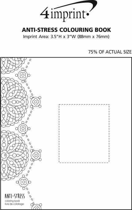 Imprint Area of Anti-Stress Colouring Book