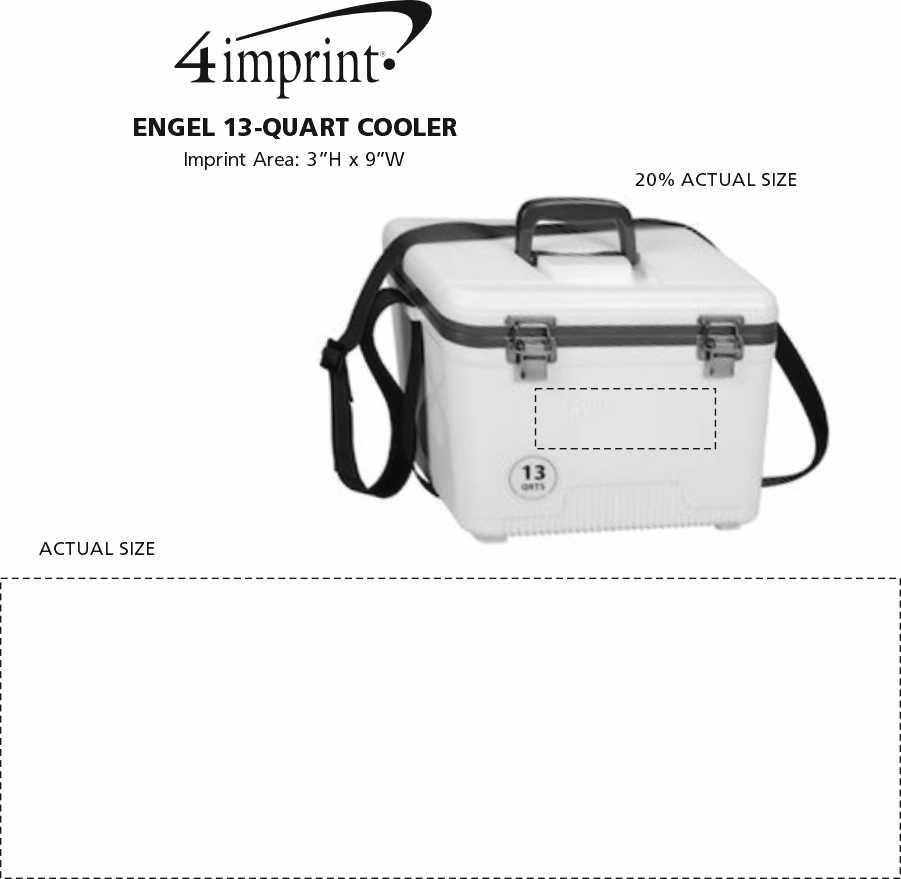Imprint Area of Engel 13-Quart Cooler