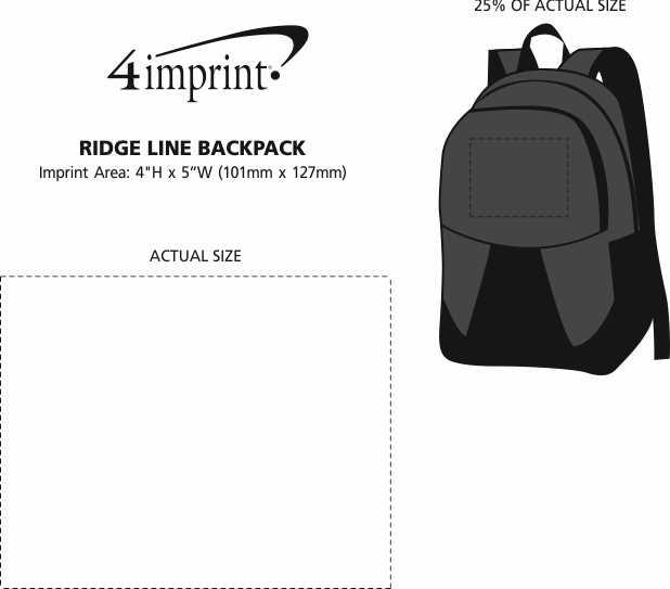 Imprint Area of Ridge Line Backpack