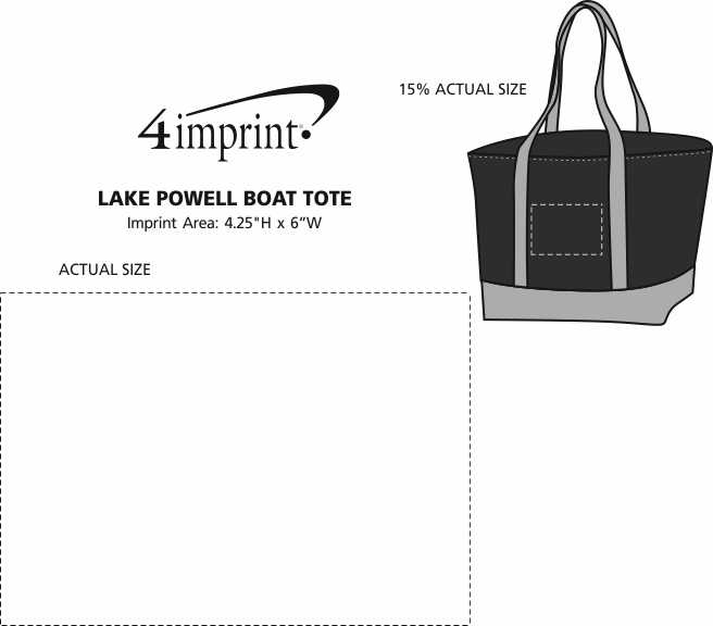 Imprint Area of Lake Powell Boat Tote