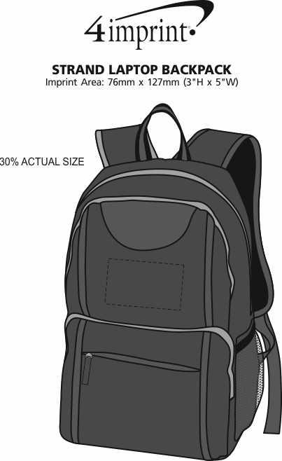 Imprint Area of Strand Laptop Backpack