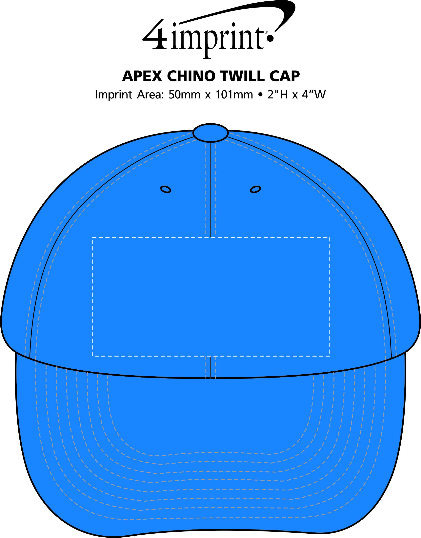 Imprint Area of Apex Chino Cap