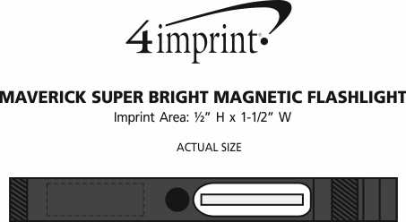 Imprint Area of Maverick COB Magnetic Flashlight