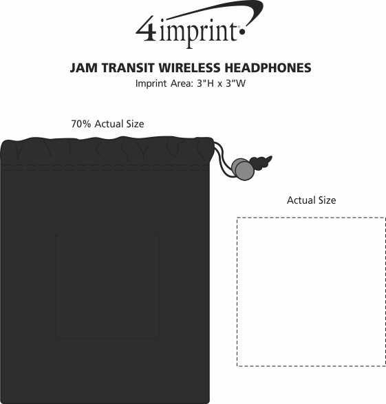 Imprint Area of Jam Transit Wireless Headphones