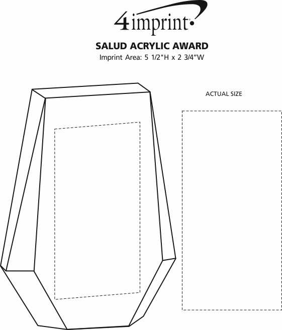Imprint Area of Salud Acrylic Award