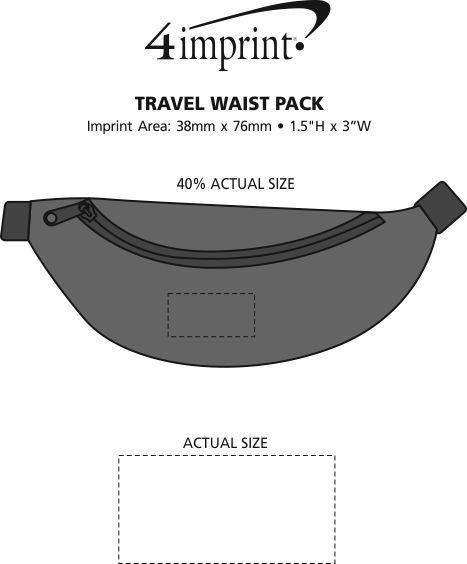 Imprint Area of Travel Waist Pack