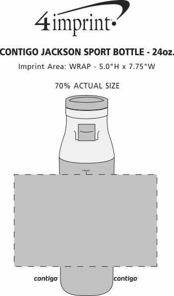 Imprint Area of Contigo Jackson Sport Bottle - 24 oz.