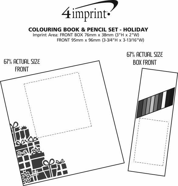 Imprint Area of Colouring Book & Pencil Set - Holiday