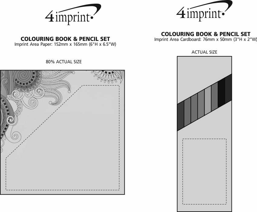 Imprint Area of Colouring Book & Pencil Set