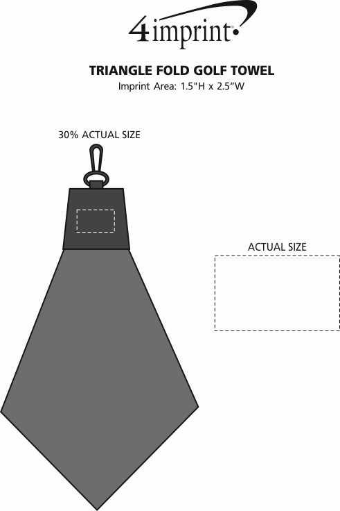 Imprint Area of Triangle Fold Golf Towel