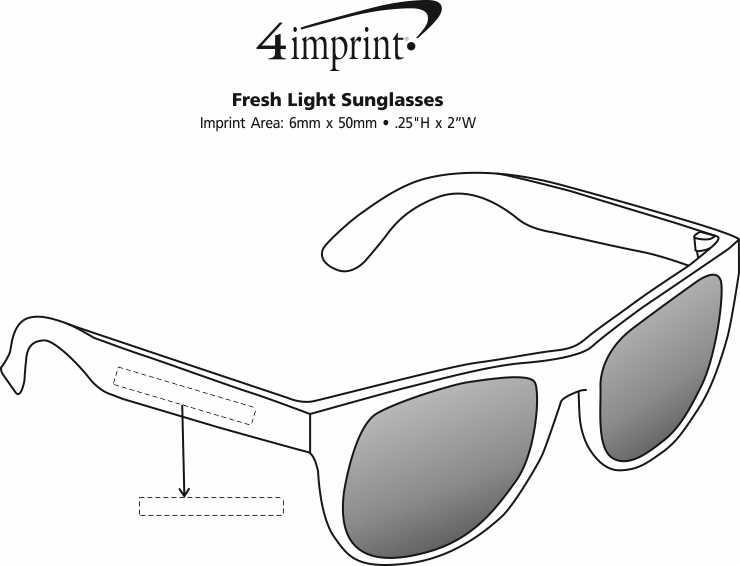 Imprint Area of Fresh Light Sunglasses