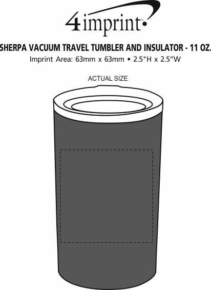 Imprint Area of Sherpa Vacuum Tumbler and Insulator - 11 oz.