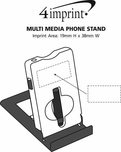 Imprint Area of Multimedia Phone Stand