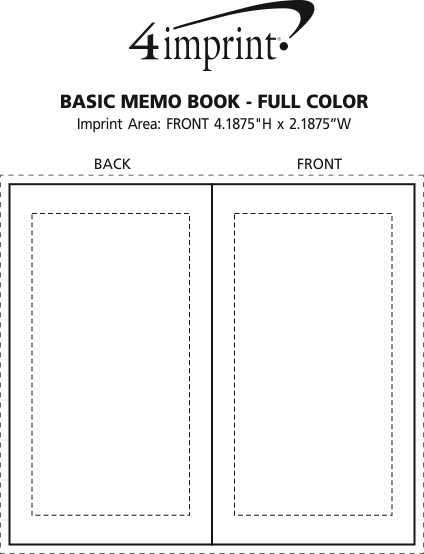 Imprint Area of Memo Book - Full Colour