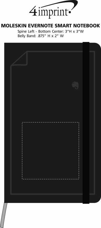 Imprint Area of Moleskine Evernote Smart Notebook