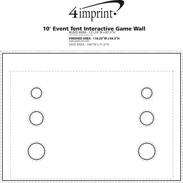 Imprint Area of 10' Event Tent Interactive Game Wall