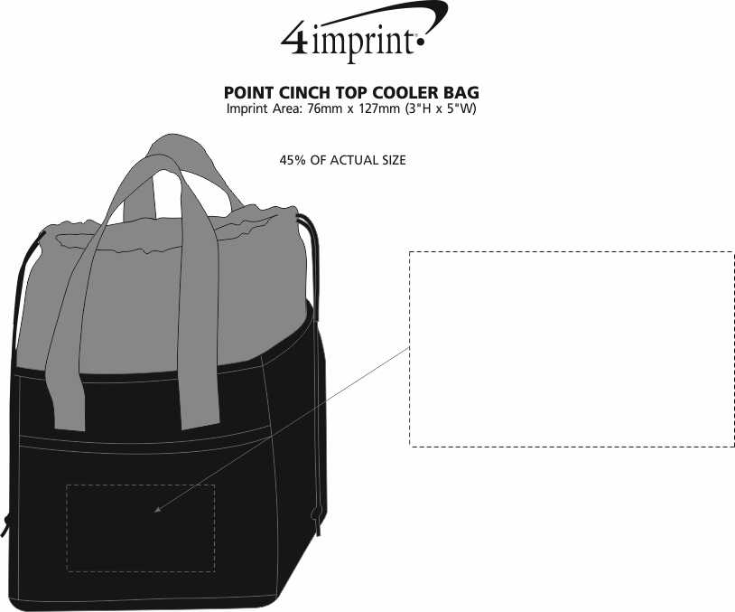 Imprint Area of Point Cinch Top Cooler Bag