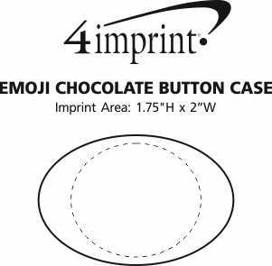Imprint Area of Emoji Chocolate Button Case