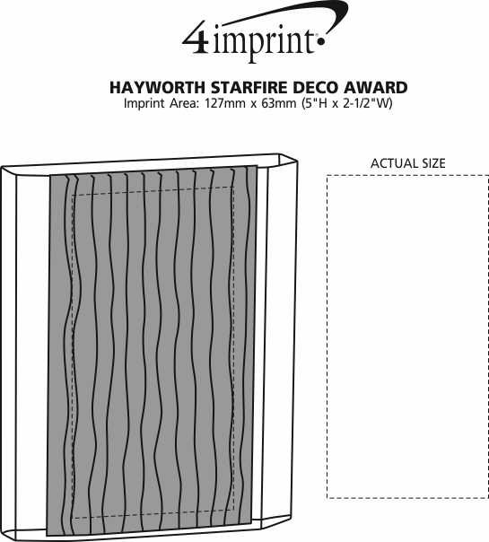 Imprint Area of Hayworth Starfire Deco Award