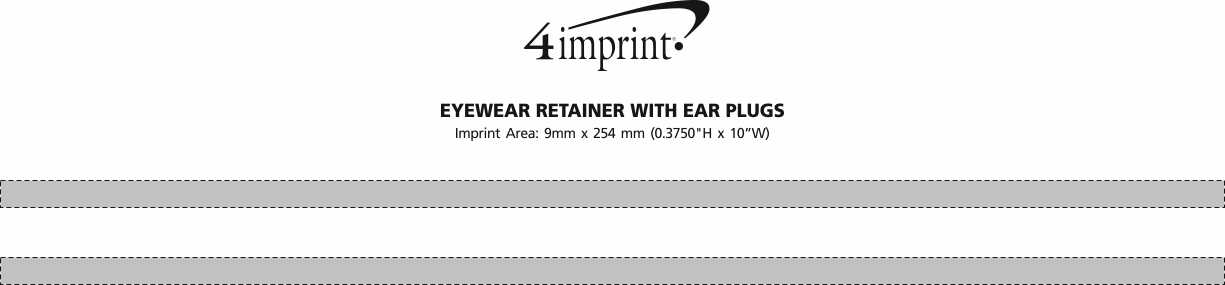 Imprint Area of Eyewear Retainer with Ear Plugs