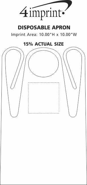 Imprint Area of Disposable Apron