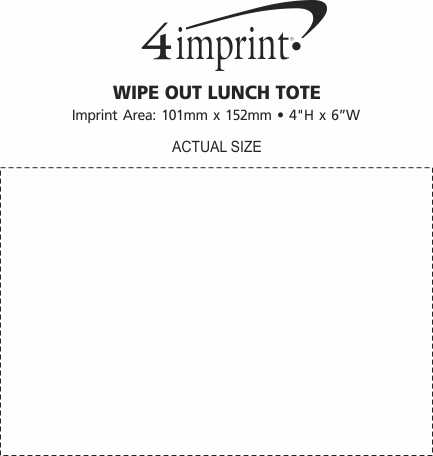 Imprint Area of Wipe Out Lunch Tote