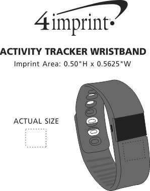 Imprint Area of Activity Tracker Wristband