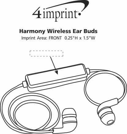 Imprint Area of Harmony Wireless Ear Buds