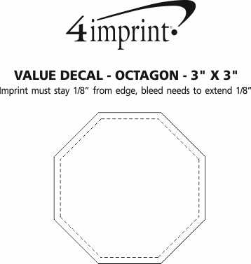 "Imprint Area of Static Decal - Octagon - 3"" x 3"""