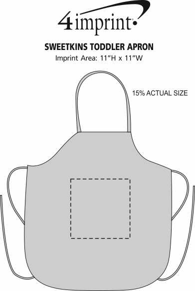 Imprint Area of Sweetkins Toddler Apron