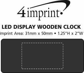 Imprint Area of LED Display Clock
