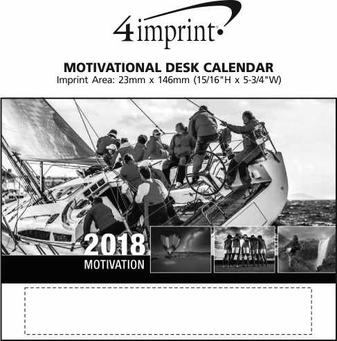 Imprint Area of Motivational Desk Calendar