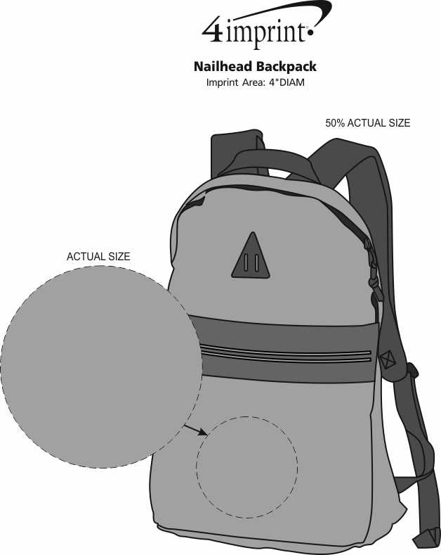 Imprint Area of Nailhead Backpack
