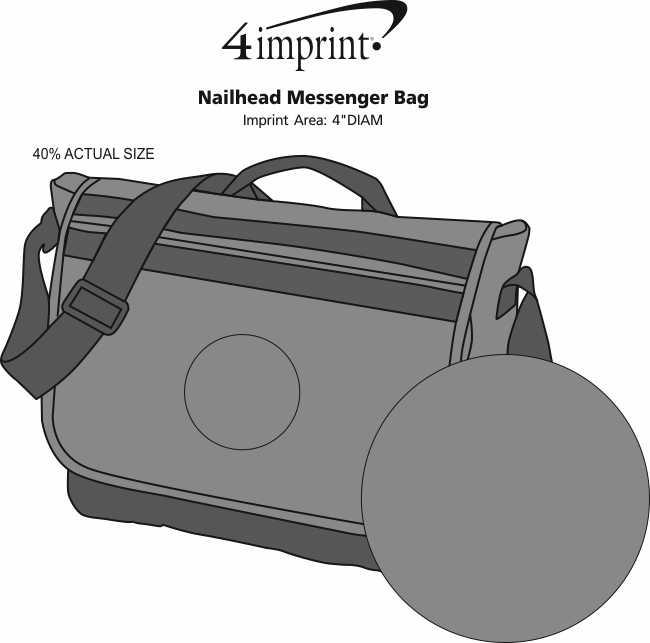 Imprint Area of Nailhead Messenger Bag