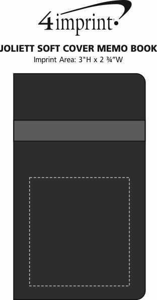 Imprint Area of Joliett Soft Cover Memo Book