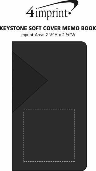 Imprint Area of Keystone Soft Cover Memo Book