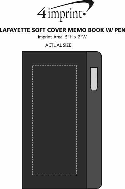 Imprint Area of Lafayette Soft Cover Memo Book with Pen