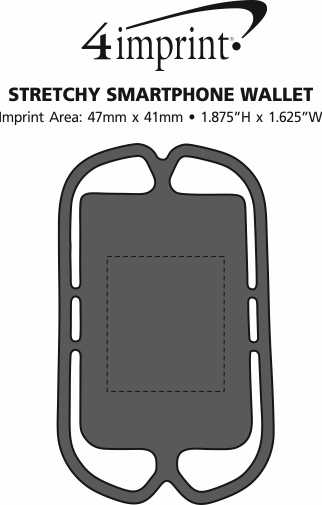 Imprint Area of Stretchy Smartphone Wallet