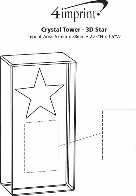 Imprint Area of Crystal Tower - 3D Star
