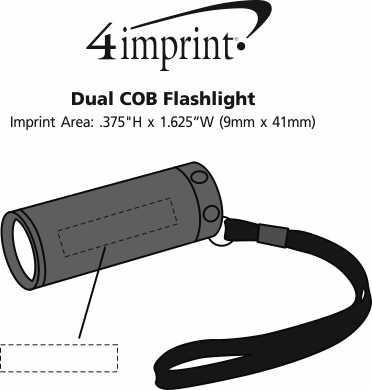 Imprint Area of Dual COB Flashlight