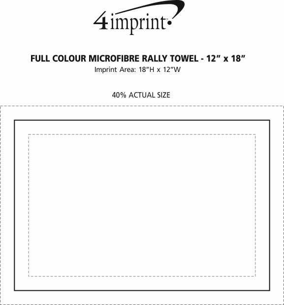 "Imprint Area of Full Colour Microfibre Rally Towel - 12"" x 18"""