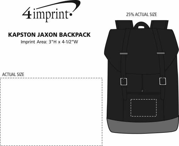 Imprint Area of Kapston Jaxon Backpack