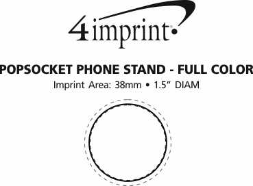 Imprint Area of PopSockets PopGrip - Full Colour