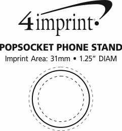 Imprint Area of PopSockets PopGrip