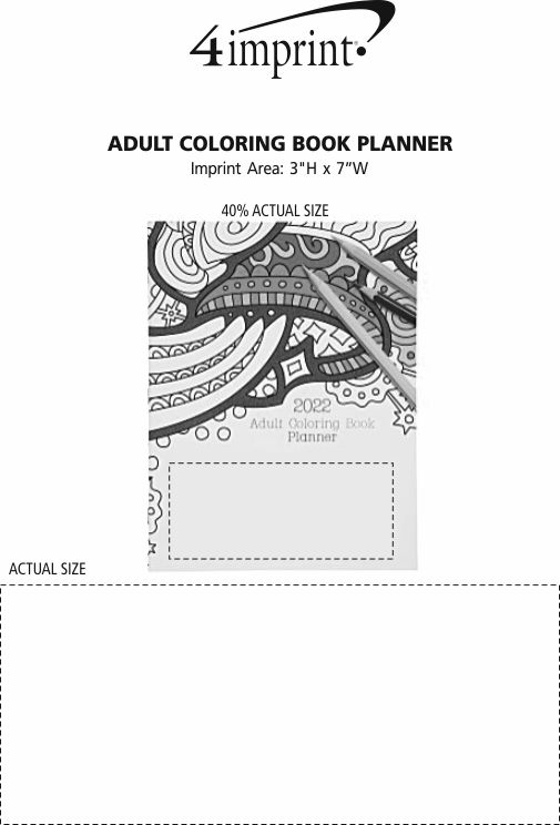 Imprint Area of Adult Colouring Book Planner