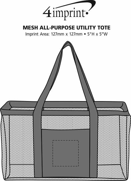 Imprint Area of Mesh All-Purpose Utility Tote