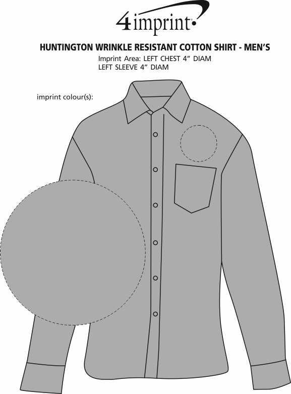 Imprint Area of Huntington Wrinkle Resistant Cotton Shirt - Men's