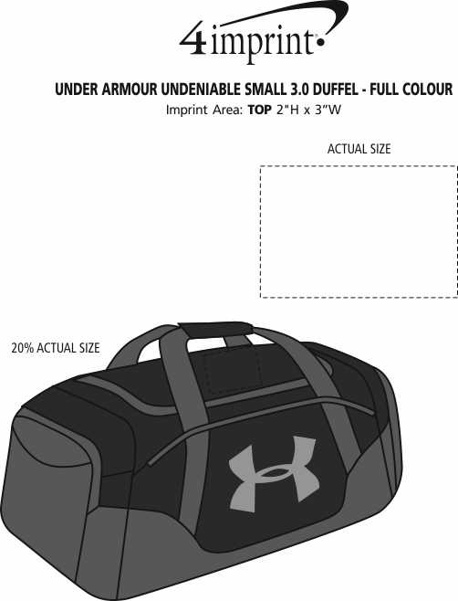 Imprint Area of Under Armour Undeniable Small 3.0 Duffel - Full Colour